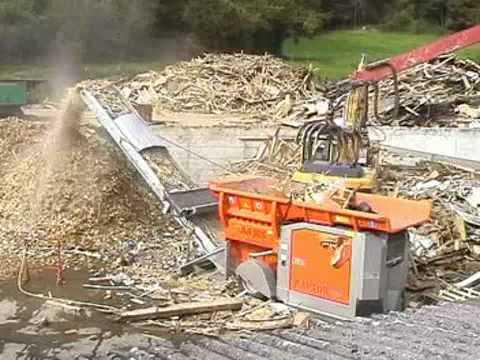 Schredder für Altholz A1 - A4, Paletten, Holz - ARJES Recycling ...