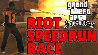 GTA San Andreas - Los Santos - RIOT SPEEDRUN RACE
