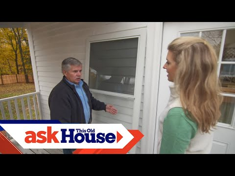 How To Install A Storm Door With A Dog Door