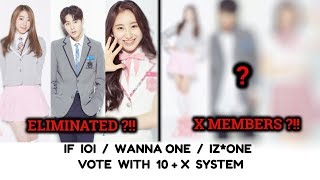 [PRODUCE X 101]: IF IOI/ WANNA ONE/ IZ*ONE VOTE WITH 10+X SYSTEM, THEN WHO WILL BE THE X MEMBERS?