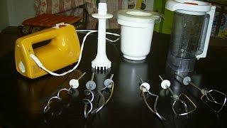 TEST-Funktionsprüfung KRUPS Mixer Handmixer 3 Mix 3000 Typ 322 - 140 Watt 70er Jahre ,Hand Mixer