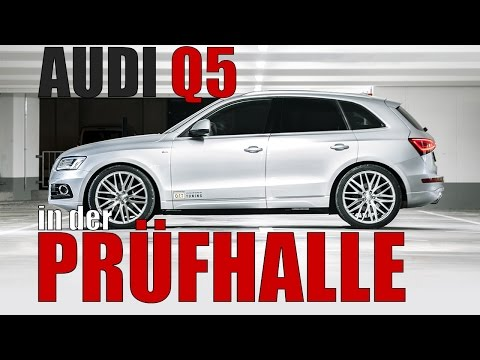 Audi Q5 in der Prüfhalle