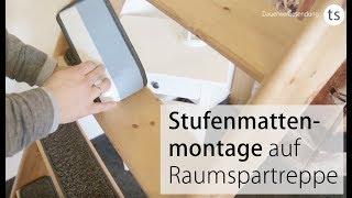Stufenmatten für Raumspartreppen richtig ausmessen und montieren. Anleitung von Teppichscheune.de