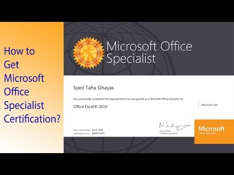 How to Get Microsoft Office Specialist Certification? - YouTube