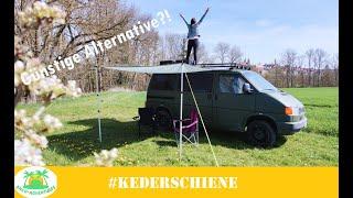 Eine alternative zur Markise? Sonnensegel und Kederschiene für den VW T4    #t4umbau #ancoadventures