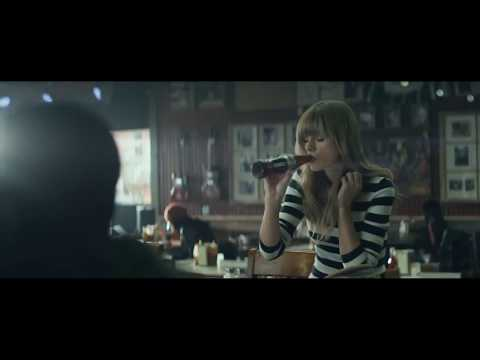 It's a video of Taylor writing songs and drinking a Coke.