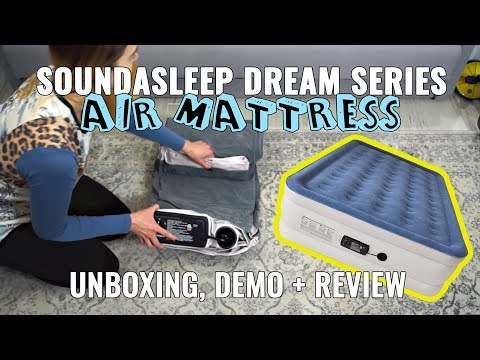 SoundAsleep Dream Series Air Mattress Unboxing + Demo + Review