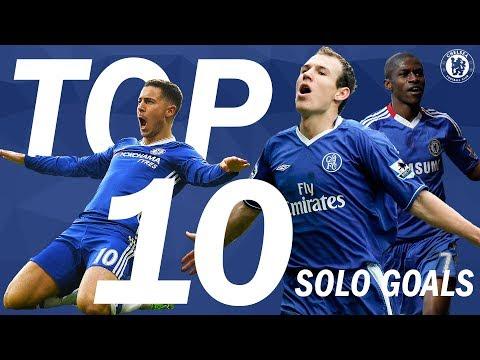 Top 10 Solo Goals In Blue | Chelsea Tops