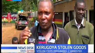 Police in Kerugoya arrest two suspects, recover stolen items after public tip off