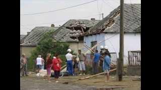 Vihar utáni kár Vaján (Szabolcs-Szatmár-Bereg megye)