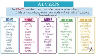 Adverbs: What Is An Adverb? Useful Grammar Rules, List & Examples