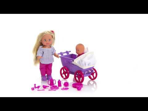 Кукла Ева с малышом в коляске, 2 вида