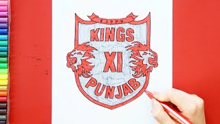 How to draw Kings 11 Punjab Logo