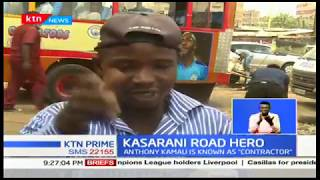 Kasarani Road 'Contractor' :Anthony Kamau fixes Kasarani-Mwiki