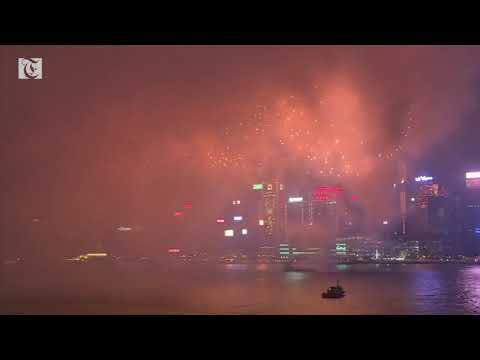 Hong Kong celebrates Lunar New Year with display of dazzling fireworks