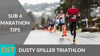 How To Run A Sub 4 Hour Marathon | Marathon Training Tips