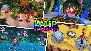 Evolution Of Warp Room In Crash Bandicoot Games