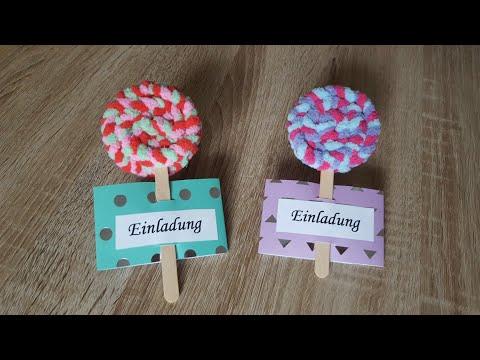 LOLLI🍭Geburtstagseinladung /DIY Lollipop Invitation