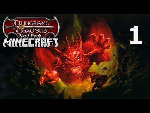 Minecraft Dungeons & Dragons Mod Pack Series  |  First Night  | Episode 1