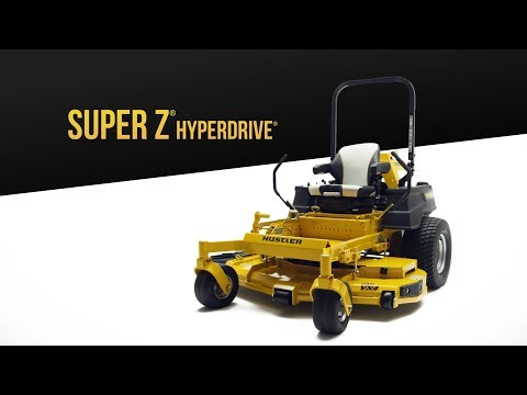2019 Hustler Turf Equipment Super Z HyperDrive 66 in. Vanguard Big Block EFI 37 hp in Okeechobee, Florida - Video 1
