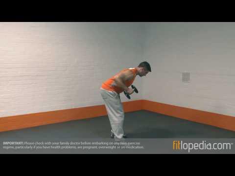 Single Arm Bent Over Dumbbell Kickback