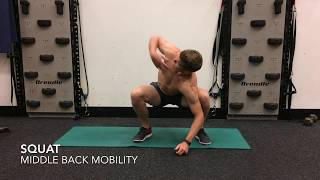 Squat with Middle Back Rotation