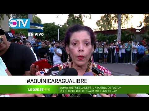 Compañera Rosario: sabemos que este es un pueblo cristiano, lleno de amor, que quiere paz