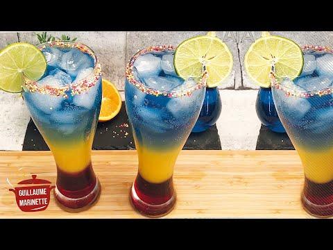 Recette De Cocktail A Etages Arc En Ciel Sans Alcool Guillaume Marinette