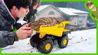Dump Trucks Ramping Full of Dirt!