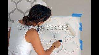 Cómo pintar y decorar paredes con plantillas