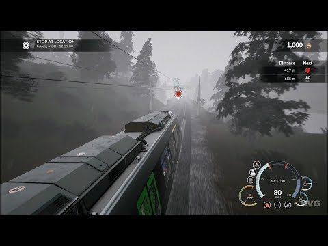 Train Sim World - Rain Gameplay (PS4 HD) [1080p60FPS]