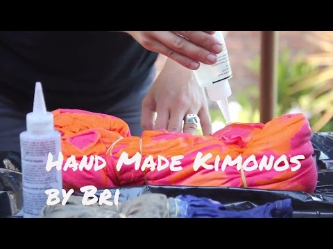 Best Hand Dyed Kimonos at Reverie The Shop by Bri