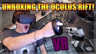 Unboxing the Oculus Rift + Touch Controllers Bundle! VR Gameplay