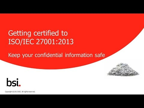 Getting certified to ISO/IEC 27001 - YouTube