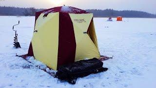 Зимняя палатка для рыбалки куб снегирь 3т