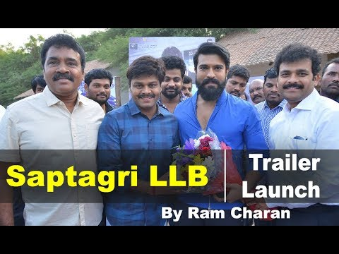 Ram Charan Launched Sapthagiri LLB Movie Trailer