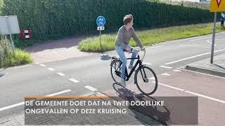 Gevaarlijke fietsoversteek in Waalwijk
