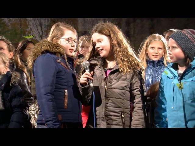 Kinderkoor Zang en Vriendschap tijdens Kerstmarkt Vaassen