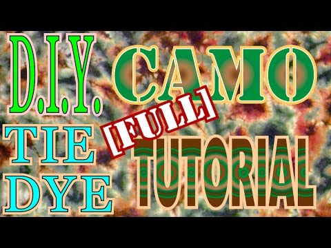 DIY: Tie Dye Camo Shirt [Full Tutorial] #25