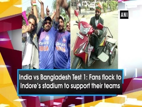 India vs Bangladesh Test 1: Fans flock to Indore's stadium to support their teams