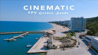 FPV Cinematic chill at Golden Sands beach, Villa Jackie