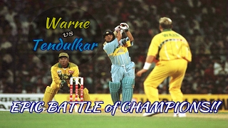 Sachin Tendulkar vs Shane Warne : RELIVE THE EPIC BATTLE OF CHAMPIONS!!!