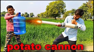 खतरनाक तोप | DIY Cannon | Big Cannon vs Bottle - will it survive ?