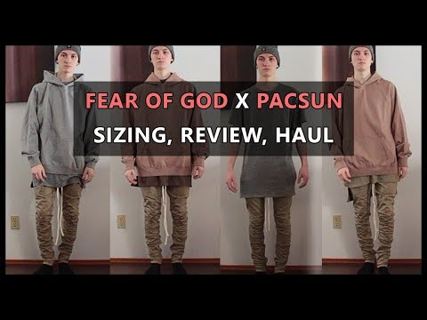 FOG x PACSUN Review | Sizing Guide/Haul | Khaki Pants, Hoodie, Tees