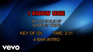 Charley Pride - I Know One (Karaoke)