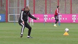 Funny Pep Guardiola - Martinez Shaquiri Robben Kroos Schweinsteiger Götze Pizarro - FC Bayern Munich