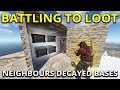 Download Video The Fight For Both Of My Neighbours Decaying Bases - Rust Solo Survival Gameplay