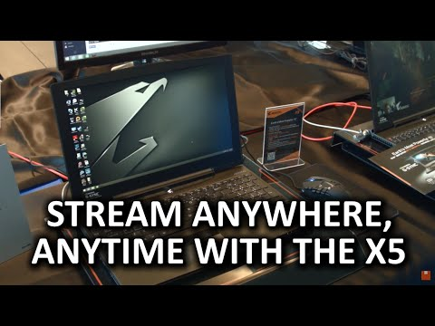 Aorus X5 Gaming Laptop - G-Sync, SLI, & streaming on the go!