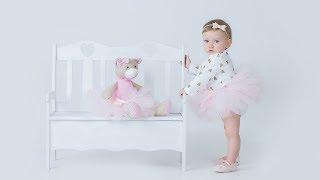 1st Birthday Photoshoot  Studio Portrait Photo Session For Adorable Baby Girl