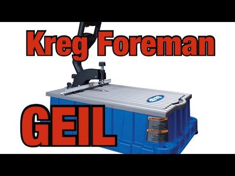 Kreg Foreman pocket hole machine | Deutsch | Trends | Anleitung | Undercover jig